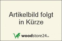 Designelement in Edelstahl / Cristal (Serie WoodoTexel) in Alu silber mit Adapter,1790 mm lang in den Höhe 150 mm / 300 mm