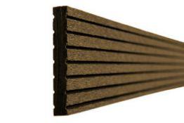 BPC / WPC Abschlussprofil, 10 x 65 x 2900 mm, dunkelbraun