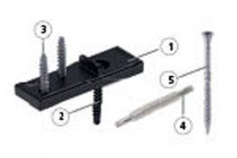 Befestigungsclip für verdeckte Verschraubung (60 Stk. pro Packung) für Resysta Terrassendielen