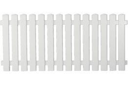 Vorgartenzaun Kunststoff weiß 180 x 80 cm (Serie Juist)