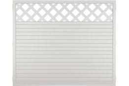 Sichtschutzzaun Kunststoff Gitter weiß 180 x 150 cm (Serie Juist)