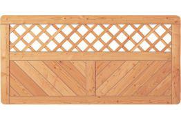 Sichtschutzzaun Holz Lärche Gitter 180 x 90 cm (Serie Pöhl)