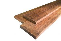 Terrassendielen Bambus Bank/Stufe, französisch und glatt, coffee, 42 x 290 x 2200 mm