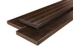Terrassendielen Bambus Bank/Stufe, französisch und glatt, espresso, 42 x 290 x 2000 mm