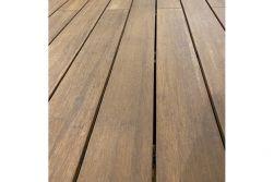 Terrassendielen Bambus Natur 20 (S) x 137 (B) x 1850 (L) mm, fein genutet / glatt mit seitlicher Nut