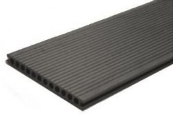 BPC / WPC Hohlkammerdiele WoodoMallorca, 25 x 250 mm, anthrazit, 2. Wahl, Mengen und Längen n. Absprache