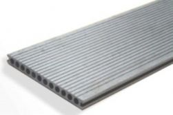 BPC / WPC Hohlkammerdiele WoodoMallorca, 25 x 250 mm, grau, 2. Wahl, Mengen und Längen n. Absprache