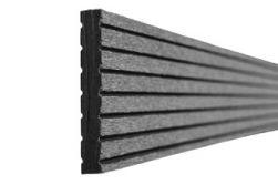 BPC / WPC Abschlussprofil, 10 x 65 x 2900 mm, grau
