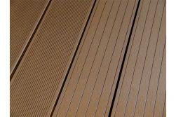 BPC Hohlkammerdiele WoodoElba,  22 x 140 mm, dunkelbraun, beidseitig begehbar, in den Längen 2,9 m / 4 m