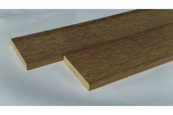 Iroko Terrassendielen, KD, einseitig glatt, einseitig mit Feinriffelung, 21 x 120 mm in den Längen 3,05 m - 4,05 m