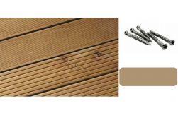 Komplettset Lärche Terrasse in 3 m, 4 m oder 5 m bestehend aus Terrassendielen, Unterkonstruktion und Terrassenschrauben