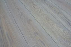 Massivholzdielen Eiche 20 x 186 mm, gebürstet, grau geölt, Länge: 500 x 2450 mm (1 PE / m²)