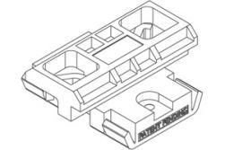 Twinson Montageclip für alle WPC Massivdielen, passend für alle Alu-Trägerprofile mit Schrauben, 100 St. / P.