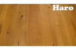Haro Eiche Rustico, strukturiert, Landhausdiele, 13,5 x 180 x 2200 mm, naturaLin plus Naturöl Oberfläche, Natürlich, rustikale Holzstruktur mit starkem Astanteil (Serie 4000 Art.529499) (3,17 m² / Paket)