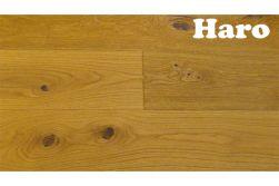 Haro Eiche Rustico, Landhausdiele, 13,5 x 180 x 2200 mm, naturaLin plus Naturöl Oberfläche, Natürliche bis lebhafte Holzstruktur mit größeren Astanteilen,  retro strukturiert (Serie 4000 Art. 531138) (3,17 m²/Paket)
