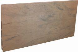 Einzelelement WPC Zaun / Sichtschutz / Steckzaun, 20 (S) x 140 (H) x 1800 (B) mm in Keilspund Braun, 2er Set