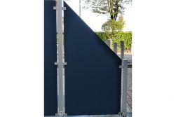 HPL Zaunelement / Sichtschutz / Designzaun 6 mm (Stärke) x 1800/900 (Höhe) x 900 (Breite) mm, anthrazit (ohne Pfosten)