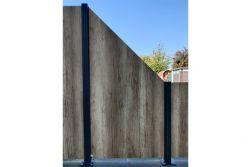 HPL Zaunelement / Sichtschutz / Designzaun 6 mm (Stärke) x 1800/900 (Höhe) x 900 (Breite) mm, helle Eiche (ohne Pfosten)