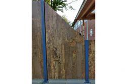 HPL Zaunelement / Sichtschutz / Designzaun 6 mm (Stärke) x 1800/900 (Höhe) x 900 (Breite) mm, Rost (ohne Pfosten)