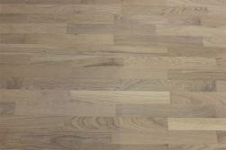 Parkett Europäische Eiche, Schiffsboden,  14 x 195 x 2200 mm, weiß extrem matt lackiert, gebürstet, (2,57 m2 / Pak)