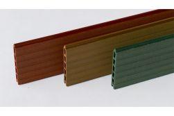 WPC Zaun / Sichtschutz / Steckzaun, 20 x 150 x 1800 mm, Einfaches Modulares Zaunsystem / Schmuckfarben (Serie WoodoTexel)