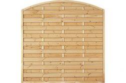 Sichtschutzzaun Holz Bogen Kiefer/Fichte 180 x 180/160 cm (Serie Baltrum)