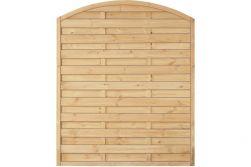 Sichtschutzzaun Holz Bogen Kiefer/Fichte 150 x 180/160 cm (Serie Baltrum)