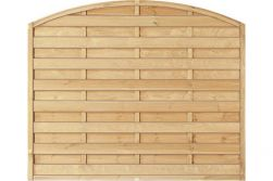 Sichtschutzzaun Holz Bogen Kiefer/Fichte 180 x 150/130 cm (Serie Baltrum)