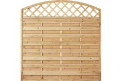 Sichtschutzzaun Holz Bogen mit Gitter  Kiefer/Fichte 180 x 180/160 cm (Serie Baltrum)