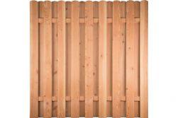 Lamellenzaun Holz Douglasie 180 x 180 cm (Serie: Doben)