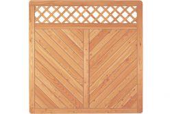 Sichtschutzzaun Holz Lärche Gitter 180 x 180 cm (Serie Pöhl)