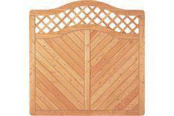 Sichtschutzzaun Holz Lärche Bogen 180 x 180/165 cm (Serie Pöhl)